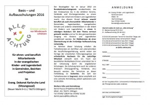 Flyer - Schulung Alle Achtung 2016